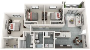 Bainbridge_MILA_FloorPlans_C1_3bed_2ba_1208sq