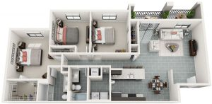 Bainbridge_MILA_FloorPlans_C2_3bed_2ba_1377sq